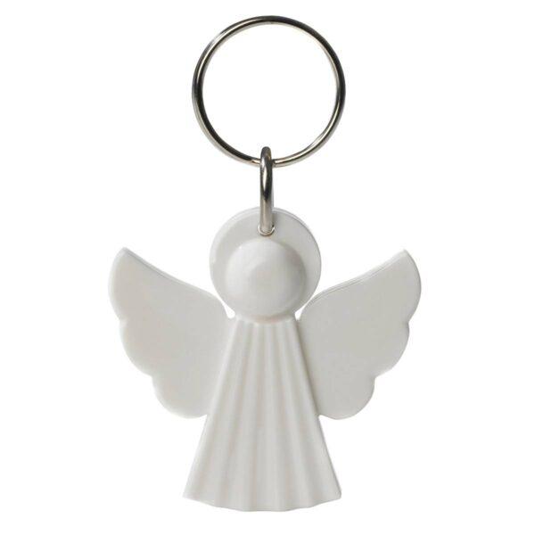 Angel keychain white