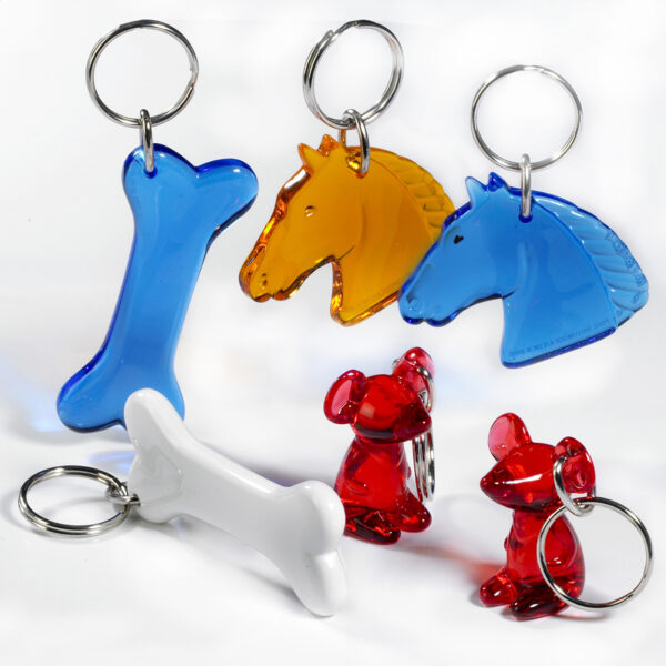 Animal friends keychains - animal keychains - bone - horse - mouse