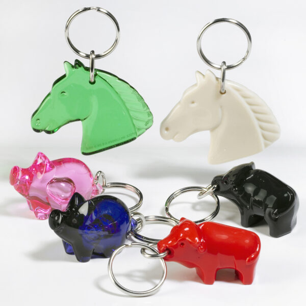 Farm Animals keychains package - horse - pig - bull