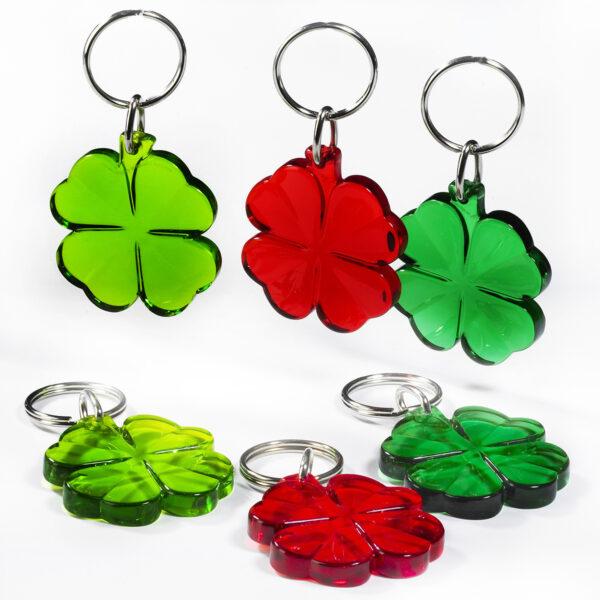 Four-Leaf-Clover keychain - good luck keychains