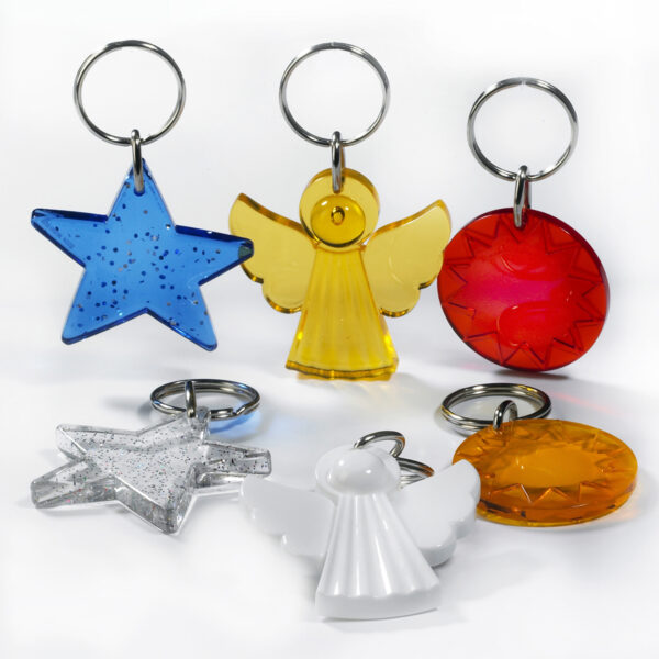Jewellery keychains package - angel - star - sun