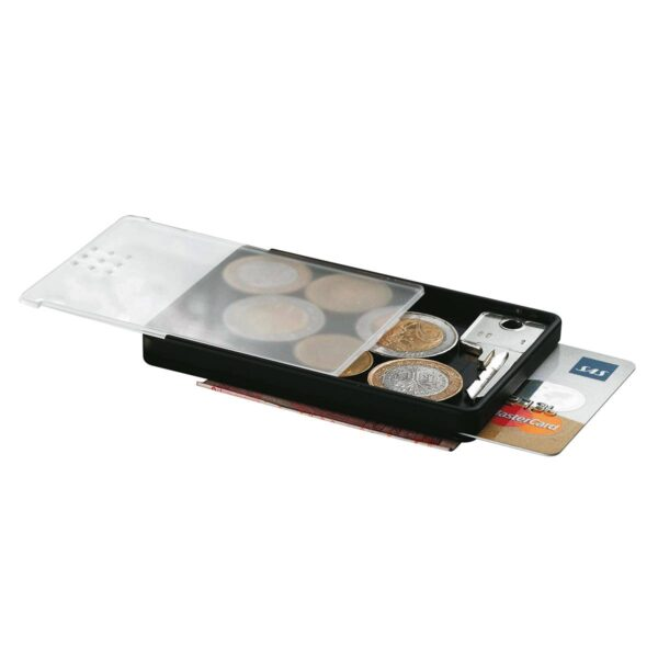 Money Card - card holder for travelling - soft touch black
