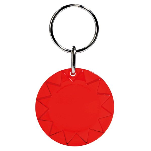 Sun keychain red transparent