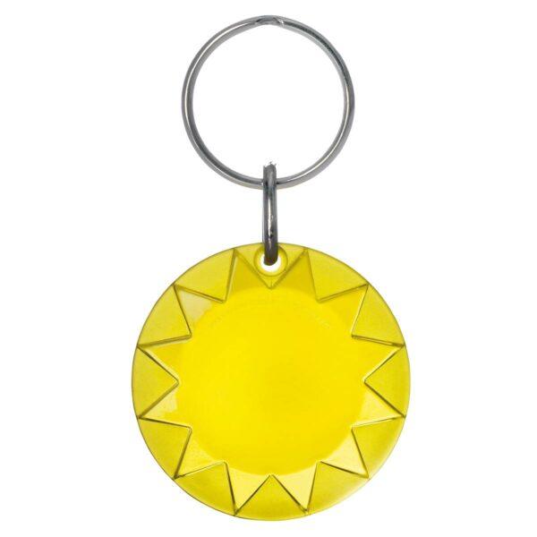 Sun keychain yellow transparent