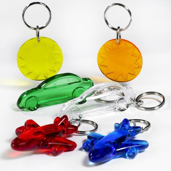 Travel keychains package - car - airplane - sun