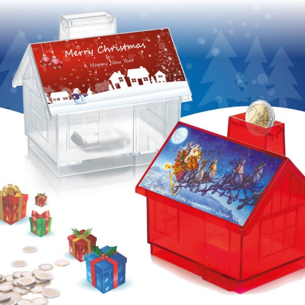 Christmas House moneybox package