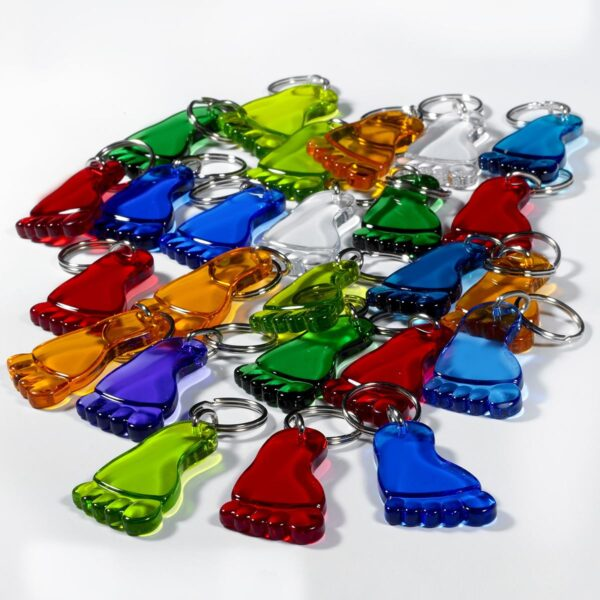 Foot keychains mega package