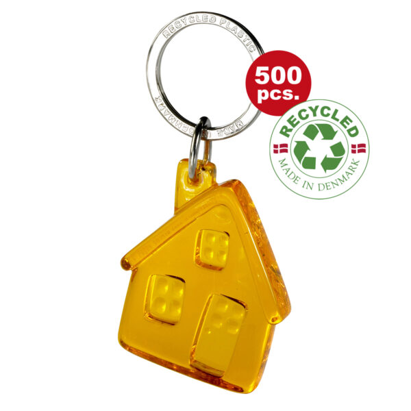 Recycled House keychain recycled